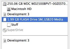 Disk Utility Sidebar