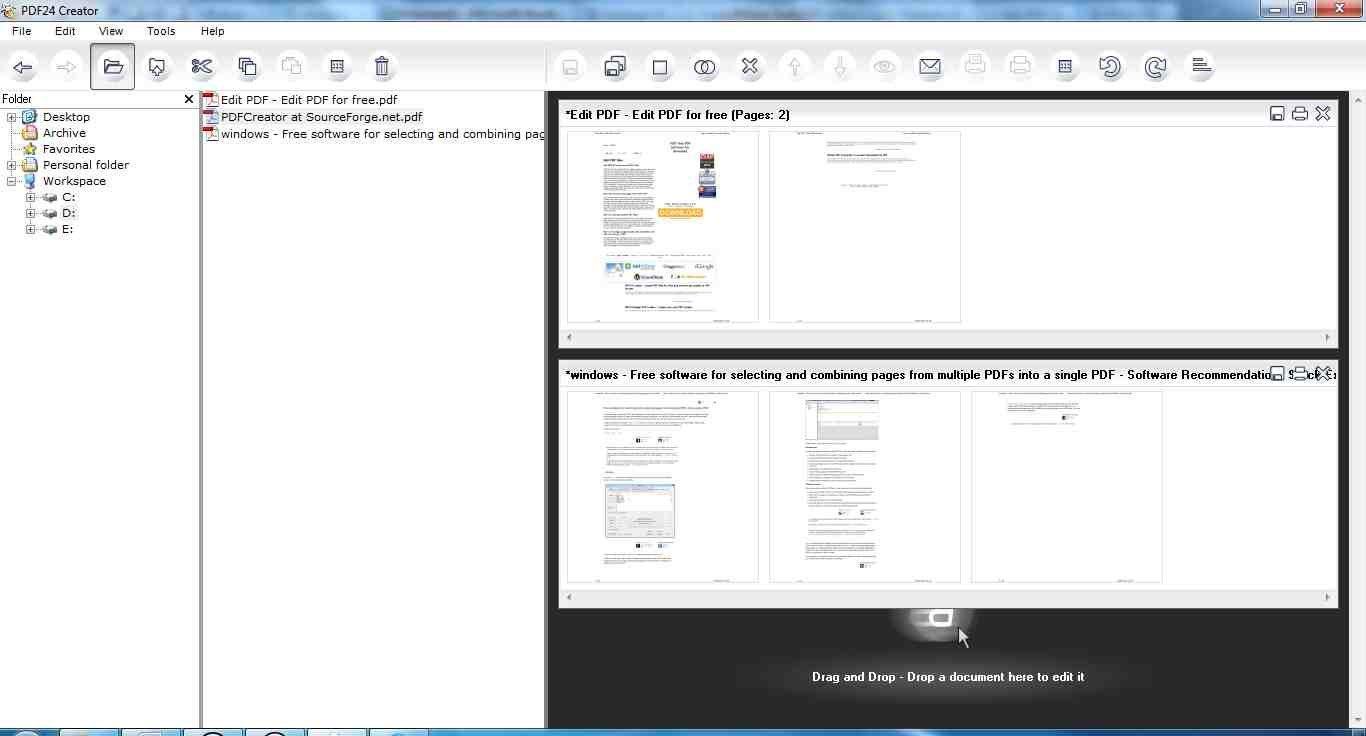 Screenshot with file explorer and editing pane