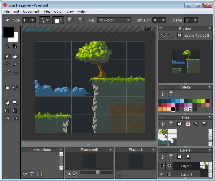 Pyxel Edit UI